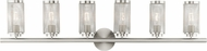 Livex 14126-91 Industro Modern Brushed Nickel 6-Light Bath Light Fixture
