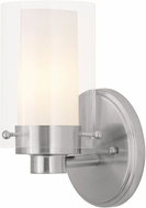 Livex 1541-91 Manhattan Contemporary Brushed Nickel Wall Light Fixture