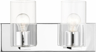 Livex 16552-05 Zurich Contemporary Polished Chrome 2-Light Vanity Light Fixture