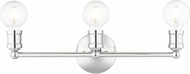 Livex 16713-05 Lansdale Modern Polished Chrome ADA 3-Light Bathroom Lighting Sconce