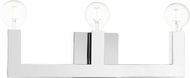 Livex 16813-05 Solna Contemporary Polished Chrome ADA 3-Light Bathroom Lighting