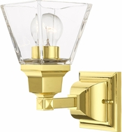 Livex 17171-02 Mission Polished Brass Wall Mounted Lamp