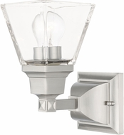 Livex 17171-91 Mission Brushed Nickel Wall Lighting Fixture