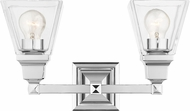Livex 17172-05 Mission Polished Chrome 2-Light Vanity Lighting