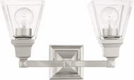 Livex 17172-91 Mission Brushed Nickel 2-Light Vanity Light