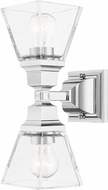 Livex 17178-05 Mission Polished Chrome Wall Light Sconce