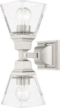 Livex 17178-91 Mission Brushed Nickel Wall Sconce Light