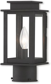 Livex 20201-04 Princeton Contemporary Black Lamp Post Light Fixture