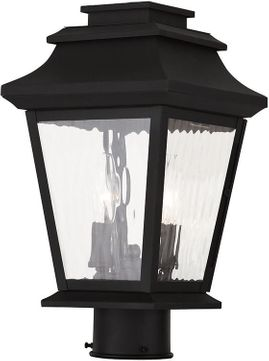 Livex 20234-04 Hathaway Black Post Lighting