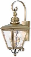 Livex 2031-01 Cambridge Antique Brass Lamp Sconce