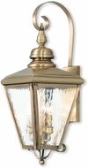Livex 2033-01 Cambridge Antique Brass Lighting Wall Sconce
