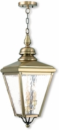 Livex 2035-01 Cambridge Antique Brass Hanging Lamp