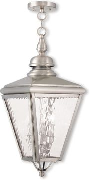 Livex 2035-91 Cambridge Brushed Nickel Pendant Light Fixture