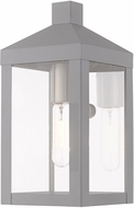 Livex 20581-80 Nyack Contemporary Nordic Gray Exterior 10.5  Wall Lighting Sconce