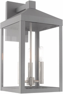 Livex 20584-80 Nyack Contemporary Nordic Gray Exterior 17.5  Wall Lighting Fixture