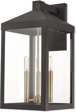 Livex 20585-07 Nyack Bronze Outdoor Light Sconce