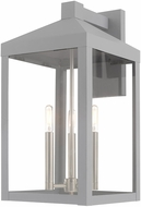 Livex 20585-80 Nyack Contemporary Nordic Gray Exterior 22  Wall Sconce Light