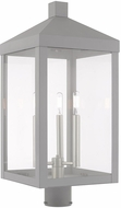 Livex 20586-80 Nyack Contemporary Nordic Gray Exterior Post Lamp