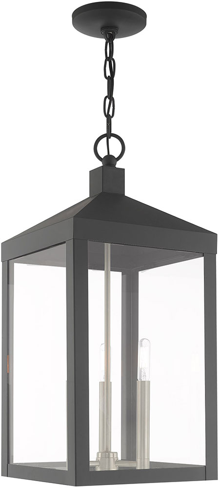Livex 20587 76 Nyack Modern Scandinavian Gray Outdoor Pendant Lighting