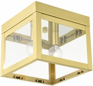 Livex 20588-12 Nyack Modern Satin Brass 8  Ceiling Lighting