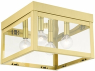 Livex 20589-12 Nyack Contemporary Satin Brass 11  Ceiling Light