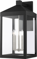Livex 20598-04 Nyack Black with Brushed Nickel Cluster Exterior Wall Lighting