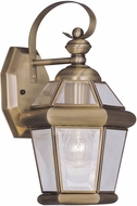 Livex 2061-01 Georgetown Antique Brass Wall Light Fixture