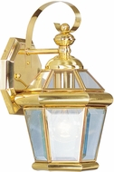 Livex 2061-02 Georgetown Polished Brass Lighting Wall Sconce
