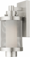 Livex 20681-91 Nottingham Contemporary Brushed Nickel Outdoor Light Sconce