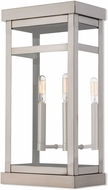 Livex 20704-91 Hopewell Brushed Nickel Exterior Light Sconce