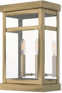 Livex 20705-01 Hopewell Antique Brass Outdoor Lighting Sconce