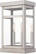 Livex 20705-91 Hopewell Brushed Nickel Exterior Wall Light Fixture