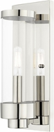 Livex 20721-05 Hillcrest Modern Polished Chrome Outdoor 12  Wall Sconce