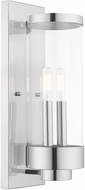 Livex 20722-05 Hillcrest Modern Polished Chrome Outdoor 16  Wall Lighting