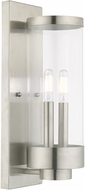 Livex 20722-91 Hillcrest Contemporary Brushed Nickel Exterior 16  Sconce Lighting