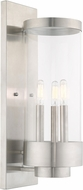Livex 20724-91 Hillcrest Contemporary Brushed Nickel Exterior 20.5  Lighting Sconce