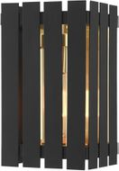 Livex 20751-04 Greenwich Contemporary Black with Satin Brass Accents Exterior Lighting Wall Sconce