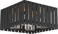 Livex 20754-04 Greenwich Modern Black with Satin Brass Accents Outdoor Ceiling Light