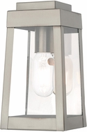 Livex 20851-91 Oslo Contemporary Brushed Nickel Exterior 9.5  Wall Sconce Lighting