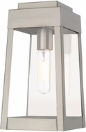 Livex 20852-91 Oslo Contemporary Brushed Nickel Exterior 12  Wall Light Sconce