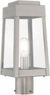 Livex 20853-91 Oslo Contemporary Brushed Nickel Exterior Lamp Post Light