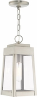 Livex 20854-91 Oslo Contemporary Brushed Nickel Exterior Hanging Light Fixture
