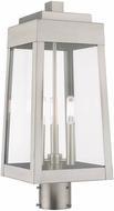 Livex 20856-91 Oslo Contemporary Brushed Nickel Exterior Post Lighting Fixture