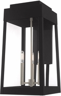 Livex 20858-04 Oslo Modern Black Outdoor Sconce Lighting