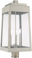 Livex 20859-91 Oslo Contemporary Brushed Nickel Exterior Post Lighting