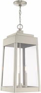 Livex 20860-91 Oslo Contemporary Brushed Nickel Exterior Pendant Light