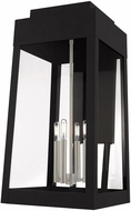 Livex 20861-04 Oslo Modern Black Outdoor Wall Sconce Lighting