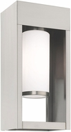 Livex 20982-91 Bleecker Modern Brushed Nickel Outdoor 13.5  Wall Sconce