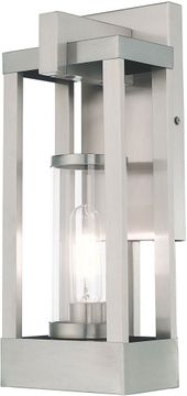 Livex 20992-91 Delancey Contemporary Brushed Nickel Exterior 16 Lighting Sconce