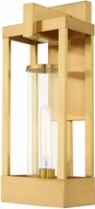 Livex 20993-12 Delancey Contemporary Satin Brass Exterior 20  Wall Sconce Lighting